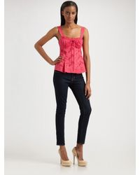 Nanette Lepore | Pink Village Girl Top | Lyst