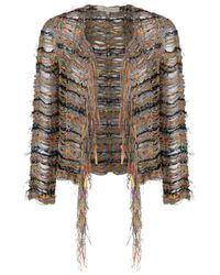 Vanessa Bruno | Multicolor Crochet Cardigan | Lyst