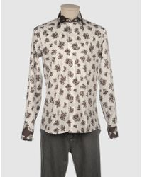 Etro | White Paisley-print Slim-fit Single-cuff Cotton Shirt for Men | Lyst