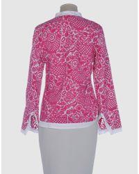 Tory Burch | Pink Ursel Logo Tee | Lyst
