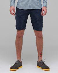 Creep | Blue Linen Work Shorts for Men | Lyst