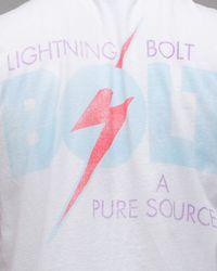 Lightning Bolt | White Bolt Tee for Men | Lyst
