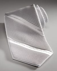 Stefano Ricci | Metallic Pleated Crystal Tie for Men | Lyst