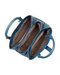 Bottega Veneta | Blue Roma Intrecciato Leather Tote | Lyst