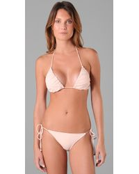 Camilla & Marc | Natural Corfu Triangle Bikini | Lyst