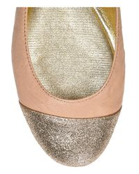 Jimmy Choo | Pink Whirl Leather Ballerina Flats | Lyst