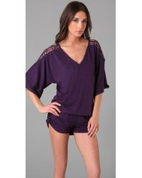 L*Space | Purple Callisto Cover Up Romper | Lyst