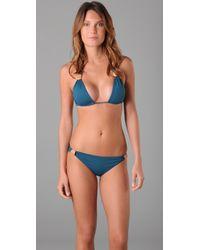 L*Space | Blue Cleopatra Bikini Top | Lyst