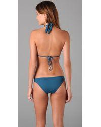 L*Space - Blue Cleopatra Bikini Top - Lyst