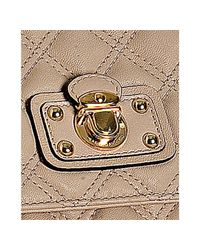 Marc Jacobs   Natural Beige Quilted Leather Day To Night Large Single Shoulder Bag   Lyst