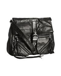 Rebecca Minkoff - Black Leather Main Squeeze Foldover Crossbody Bag - Lyst