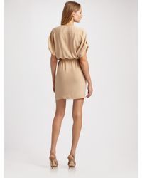 Robert Rodriguez | Natural Silk Wrap Dress | Lyst