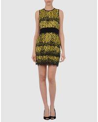 Robert Rodriguez | Yellow Short Dress | Lyst
