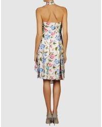 Vivienne Westwood Red Label | Multicolor Silk Floral Halterneck Dress | Lyst