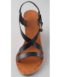 Ash - Black Tatiana Wedge Sandals - Lyst