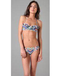 Mara Hoffman   Pink Ruffle Bustier Bikini   Lyst