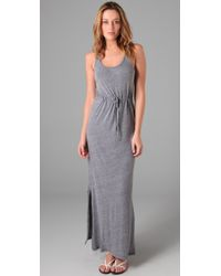 C&C California | Gray Triblend Maxi Tank Dress | Lyst