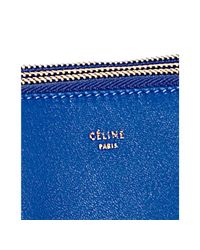 Céline | Royal Blue Lambskin Trio Crossbody Bag | Lyst