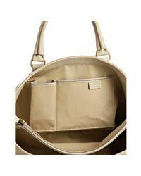 Céline - Natural Cream Pebbled Leather Boogie Satchel - Lyst