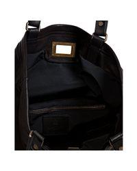 Lanvin - Black Lambskin Reflex Shopping Sac - Lyst