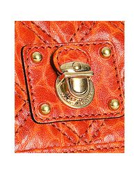 Marc Jacobs | Orange Quilted Textured Leather Debbie Crossbody | Lyst