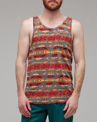 Obey | Gray Cherokee Tank for Men | Lyst