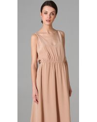 Porter Grey | Pink Cutout Long Dress | Lyst