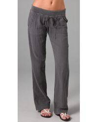 Splendid - Gray Vintage Double Gauze Pants - Lyst