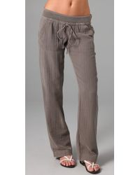 Splendid | Gray Vintage Double Gauze Pants | Lyst