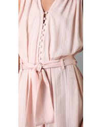 Thakoon - Pink Button Front Long Jumpsuit - Lyst