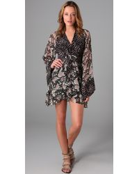 Winter Kate | Multicolor Double Print Kimono Dress | Lyst