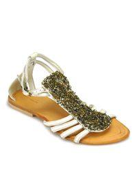 Antik Batik   Bongo - White Leather Flat Sandal   Lyst