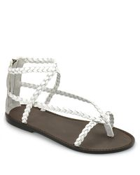 Joie | White Mccartney - Bone Braided Flat Sandal | Lyst