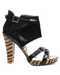 Naughty Monkey | Looks To Kill Heel - Black | Lyst