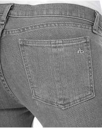 Rag & Bone | Gray Skinny Jean - Washed Grey | Lyst