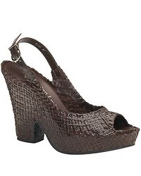 Sheridan Mia | - Brown Woven Split Wedge Sandal | Lyst