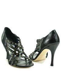 Stuart Weitzman | Black Fullup - Studded High Heel Sandal | Lyst