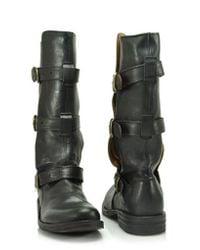 Fiorentini + Baker - Eternity - Black Mid Shaft Buckle Boot - Lyst