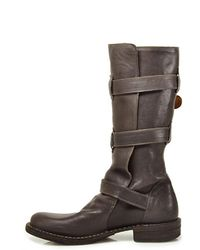 Fiorentini + Baker | Leather Buckled Boots With Fur Trim - Brown | Lyst