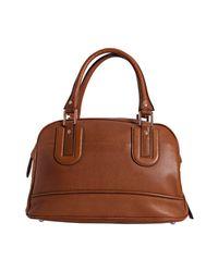 Longchamp   Brown Cognac Pebbled Calfskin Cosmos Medium Handbag   Lyst