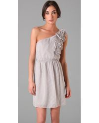 Rebecca Taylor - Natural One Shoulder Dress - Lyst