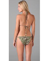 Inca - Green Lara Triangle Bikini - Lyst