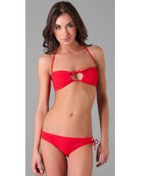 Naelie - Red Elisa Keyhole Bikini - Lyst