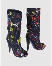 Alexander McQueen | Blue High-heeled Boots | Lyst