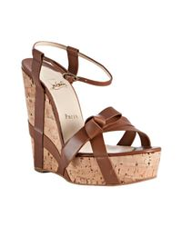 Christian Louboutin | Brown Miss Cristo | Lyst
