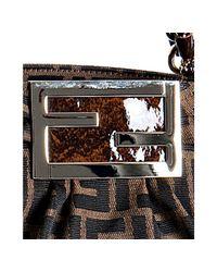 Fendi - Brown Tobacco Zucca Mia Small Chain Bag - Lyst