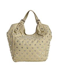 Givenchy   Natural Beige Nylon Studded New Sacca Small Hobo   Lyst