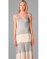 Karina Grimaldi - Gray Biscot Long Tank Dress - Lyst