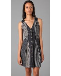 Marc By Marc Jacobs | Blue Andersen Striped Dress | Lyst
