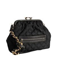 Marc Jacobs | Black Quilted Nylon Little Stam Kisslock Chain Shoulder Bag | Lyst